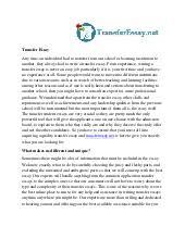 transfer essay sample