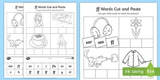 A collection of english esl worksheets for home learning, online practice, distance learning and english classes to teach about phonics, phonics. Sound Cut And Stick Worksheet Teacher Made Words Phonics Worksheets Activity Sheet Ver Ff Words Phonics Worksheets Worksheets Adding With Regrouping Worksheets Positive Integer Number Are Integers Natural Numbers Basic Numeracy Skills