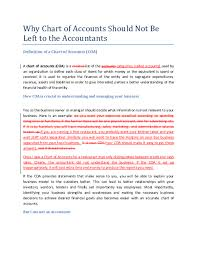 Restaurant Chart Of Accounts Doc Why Chart Of Accounts Should Not Be Left To The