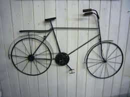 large metal bike wall art