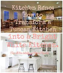 Kitchen Reno: Transform a Tuscan Kitchen into a Bright White Kitchen ...