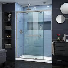 semi frameless bypass shower door