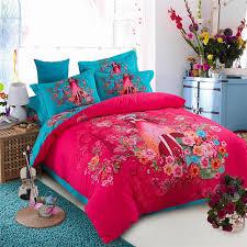 Winter Sanding Plush Girls Bedding Sets,100% Cotton 4pc Sanding Bed  Sets,500TC