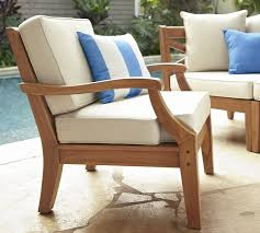 custom patio furniture custom outdoor wood furniture teak wooden armchair frame white cushion with