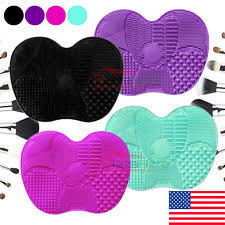 silicone makeup brush cleaner. silicone makeup brush cleaner pad washing scrubber board cleaning mat hand tool