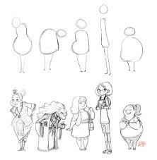 Character Design Shapes Character Shape Sketching 3 With Video Link By Luigil On