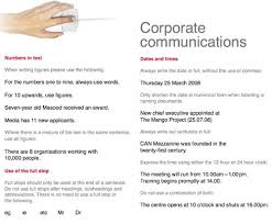 corporate communications dates and times always write the date in full without the use central head corporate communication resume