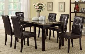 amazon poundex pdex f2093 f1078 7 piece cal dining set table chair sets