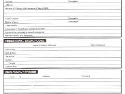 Resume Forms Online Free Blank Resume Templates Download Fill Up With Images Form 65