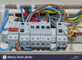 a rcd fuse box in the uk stock photo 126321602 alamy uk fuse box cover a rcd fuse box in the uk
