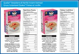 quaker strawberry and vanilla instant oatmeal