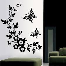 Fridge Stickers Aliexpresscom Buy 3d Butterfly Flowers Wall Sticker For Kids