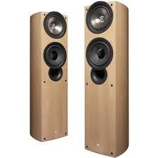 kef iq70. discontinued kef iq70 speakers (light oak wood veneer) (pair) f
