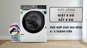 MÁY GIẶT SẤY ELECTROLUX EWW8025DGWA Giặt 8 kg - Sấy 5kg Tiết kiệm điện nước  với công