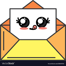 kawaii cute funny e mail message vector image