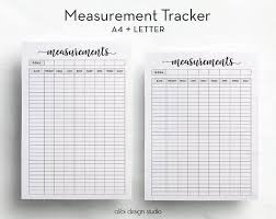 Make Your Own Weight Loss Chart Measurement Tracker Printable Planner A4 Printable