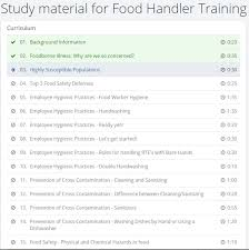 Food Safety Course Answers Food Handler Classes Giving Pass Key And Codes To Employees
