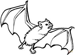 Small Picture Halloween Coloring Page Bat Coloring Coloring Pages