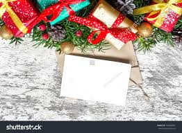 Blank Boxes To Decorate Blank Christmas Greeting Card Fir Tree Stock Photo 100 70