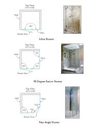 most shower hardware is designed to accommodate these angles so planning your shower with this in mind ensures a more cost effective installation and a
