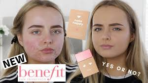 new benefit o happy soft blur foundation review wear test acne e skin conagh kathleen