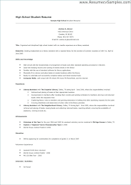 High School Resume Format Best Resume Format For High School Students No Work Experience Resume