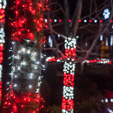 christmas lights outdoor trees warisan lighting. Outdoor Trees Wrapped With Christmas String Lights Warisan Lighting