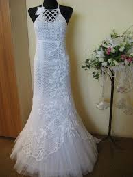 Crochet Wedding Dress Pattern Adorable Free Hand Crochet Wedding Gown CROCHET PATTERN FOR WEDDING DRESS