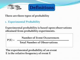 Types Of Probability Definitions There Are Three Types Of Probability 1