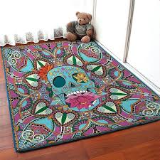 sugar skull rug fl carpet floor rugs personalized housewarming gift area by bathroom sugar skull rug