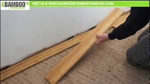 How to install bamboo flooring Strand Woven Youtube Premium Youtube How To Install Bamboo Flooring tongue Groove Over Underlay