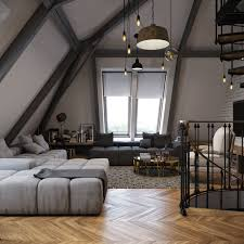 Dark Color For Small Apartment Interior Design With Exposed Brick ...