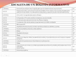 formatos de boletines informativos curso periodismo digital escaleta boletin informativo
