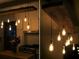 diy projects diy reclaimed lumber hanging edison bulb chandelier