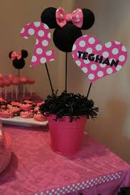 minnie mouse party center pieces change to red white and yellow maybe centerpiece ideasdiy