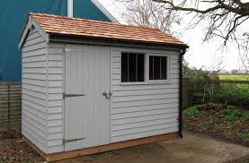 Small Picture Plain Painted Garden Sheds Uk Double Door Apex Shed 150 Steep Roof