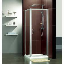 one piece corner shower unit