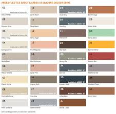 Grout Chart Grout Colour Charts