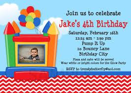 boys birthday party invitations bounce house birthday invitations 1st birthday