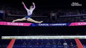 Halle Hilton Beam Final 2018 Euros - YouTube