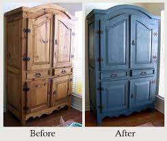 Furniture Makeovers: The Power Of Paint   The Look Of This Boring Pine  Armoire Earned