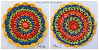 Crochet Potholder Patterns Enchanting Front Post Frenzy Crochet Potholder ⋆ Look At What I Made