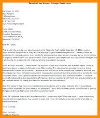 Account Management Cover Letter Sample Application Letter For