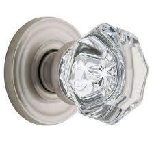 filmore satin nickel halfdummy crystal door knob glass door knobs home depot l87 glass
