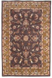traditional antique hand tufted wool area rug 5x8 fl purple gold yellow beige