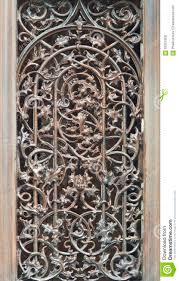 Decorative Metal Grates Window With Decorative Metal Grid Stock Photo Image 63507068
