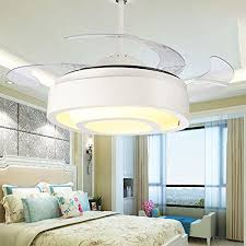 tiptonlight crystal ceiling fan 42 inch with three change colors white chandelier ceiling fan with remote