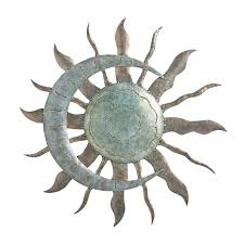 outdoor metal wall art decor new recycled moon and sun in garden for walls