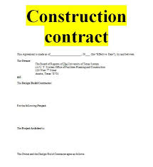 Project Contract Templates Construction contract sample template forms for fre | Sample ...
