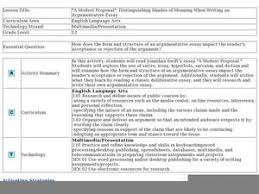 a modest proposal distinguishing shades of meaning when writing   a modest proposal distinguishing shades of meaning when writing an argumentative essay lesson